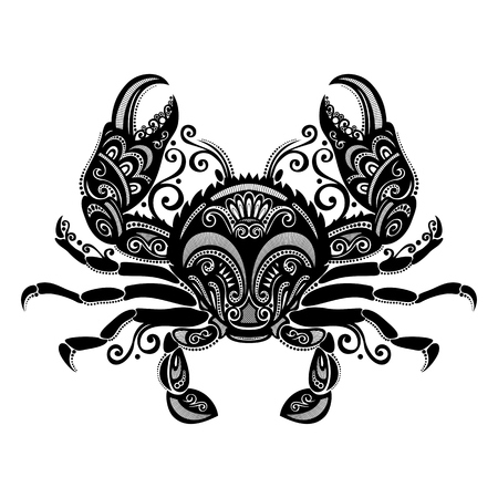 Vector Sea Crab  Patterned design Vettoriali