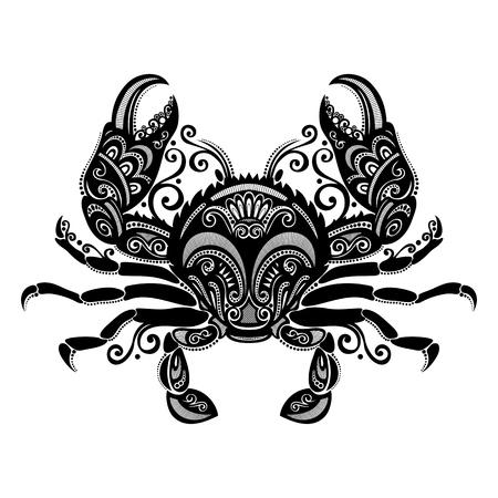 Vector Sea Crab Gemusterte Design Standard-Bild - 26529878