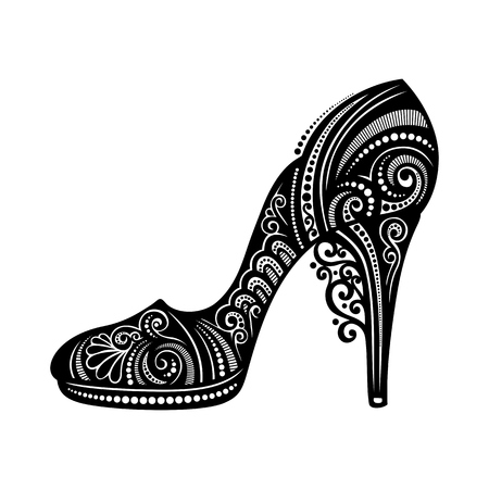 Vector Decorative Ornate Women s shoe Vector