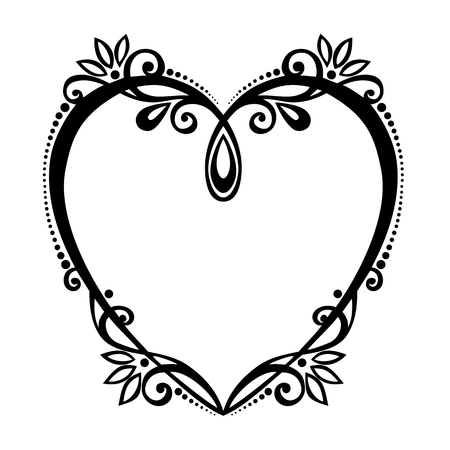 Vector Deco Floral Heart  Design element