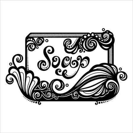 soapy: Vector Vintage adornado Bar of Soap