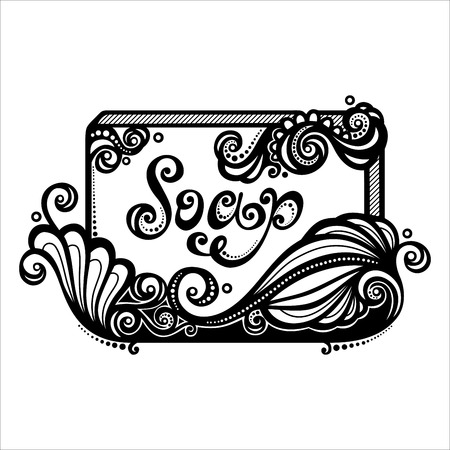 soap bubbles: Vector Vintage Ornate Bar of Soap