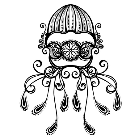 Vector Abstract Sea Jellyfish  Patterned design Vector
