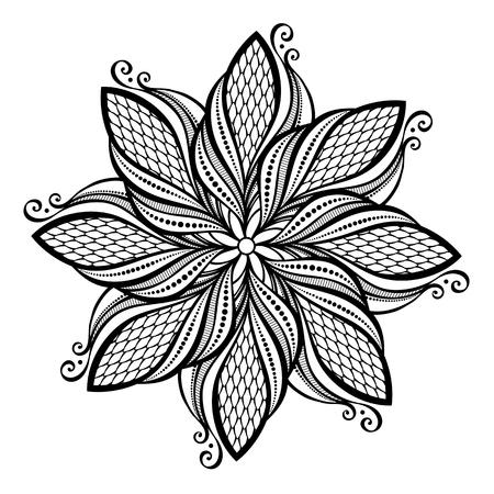 serviette: Beautiful Deco Abstract Circle  Vector , Mandala