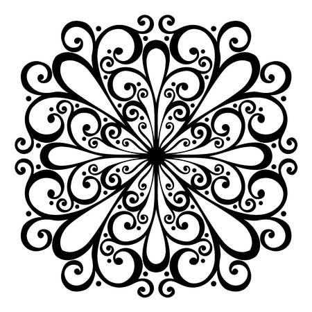 Beautiful Deco Square  Vector , Patterned design Vector