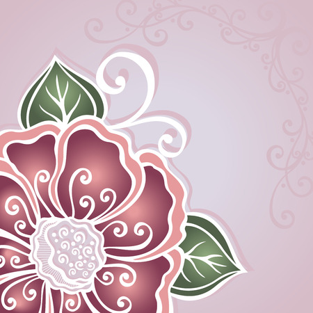 subtlety: Vector Colored Floral Layout  Greeting Card, Patterned design