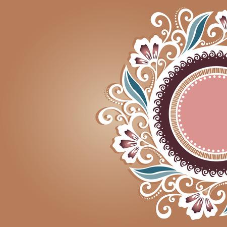 Carte de voeux Vecteur coloré Disposition floral, conception modelée
