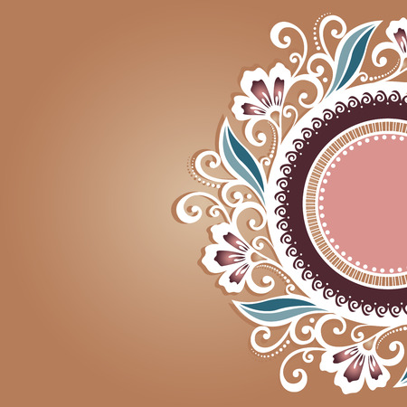 Vector Colored Floral Layout  Greeting Card, Patterned design