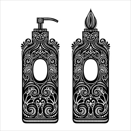 dispenser: Vector Vintage Ornate Soap Dispenser Illustration