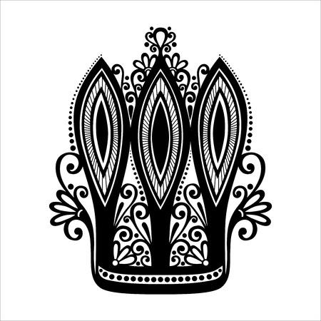 Vector Decorative Ornate Crown