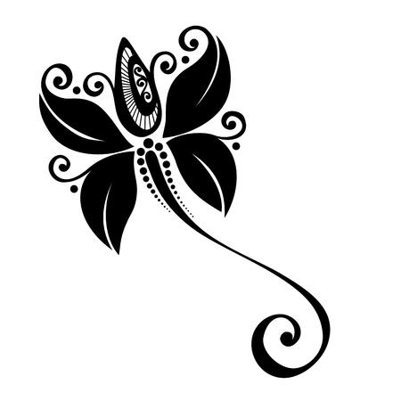 tattoo design: Beautiful Decorative Flower  Vector , Patterned design