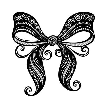 Ornamental Decorative Bow  Vector , Patterned design