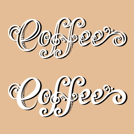 Vector Vintage Inscription COFFEE Vector