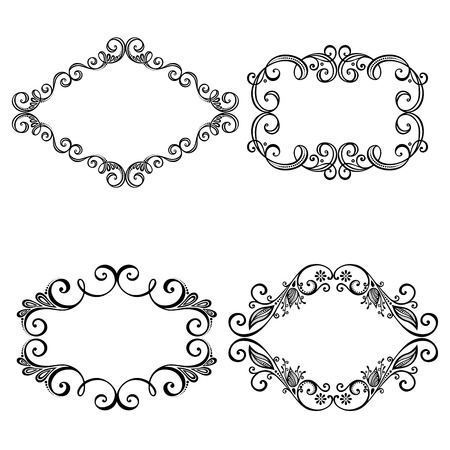 Vector Decorative Ornamental Frame for Text  Design element Vector