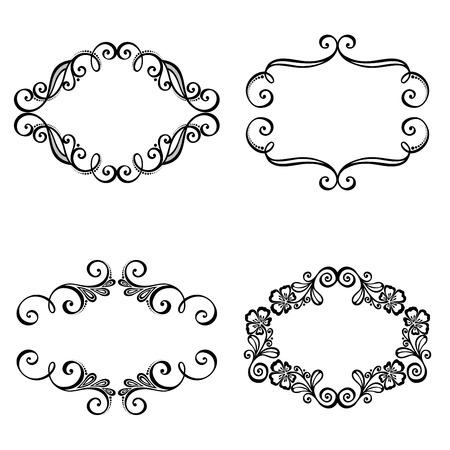 Vector Decorative cornice ornamentale per l'elemento di testo di disegno Archivio Fotografico - 27596307