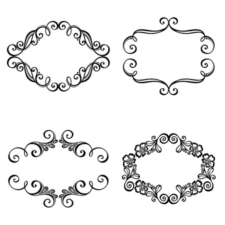 cadre: Vector Decorative Ornamental Frame for Text  Design element Illustration
