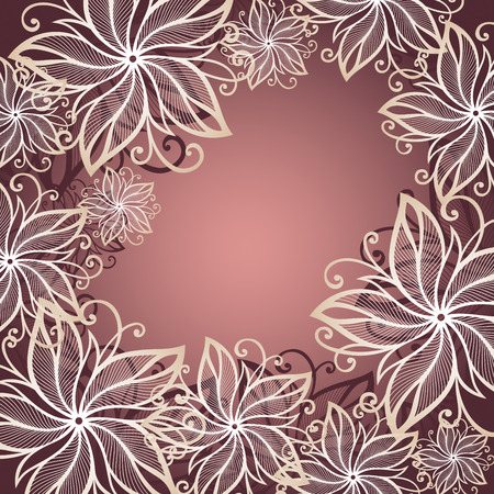 Vector Colored Floral Background    Vector