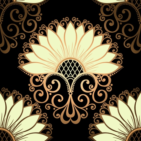 art deco background: Seamless Floral Pattern   Illustration