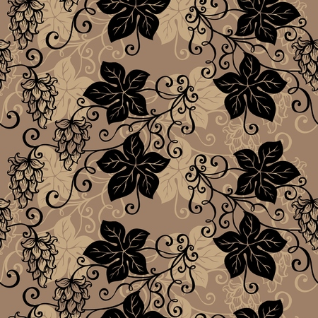 Seamless Ornate Floral Pattern   Vector
