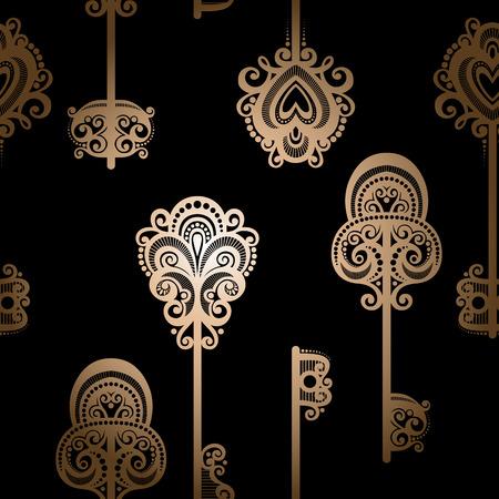 secret love: Seamless Patr�n adornado con claves