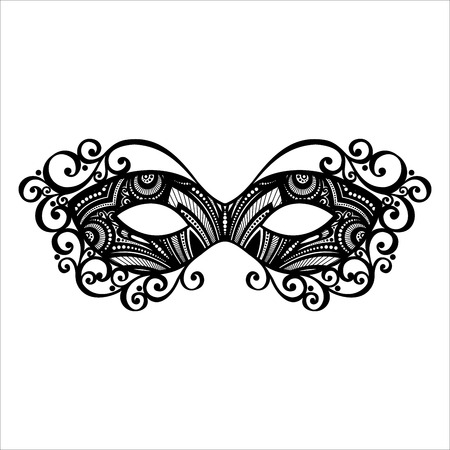 Beautiful Masquerade Mask  Vector , Patterned design Illustration