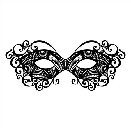 Beautiful Masquerade Mask  Vector , Patterned design Illustration