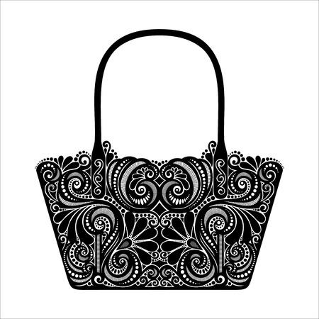 Vector decoratieve sierlijke Women s Bag Stockfoto - 27843644