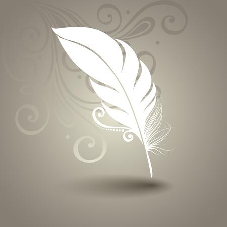 arabesco: Plantilla de vectores con la pluma de Peerless en fondo adornado Colección