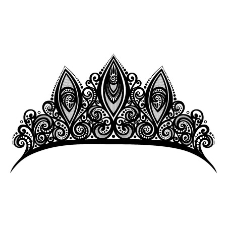 Vector Decorative Ornate Diadem Vector