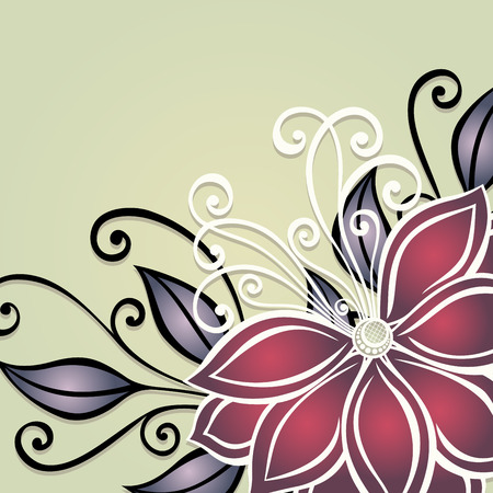 Vector Colored Floral Background  Hand Drawn Texture with Flowers Vector
