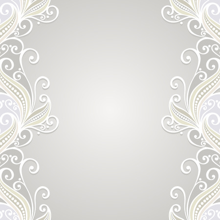 Vector Colored Ornate Backgrounds  Hand Drawn Texture with Ornamental Lace