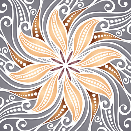 Vector Colored Ornate Backgrounds  Hand Drawn Texture with Beautiful Mandala Vector