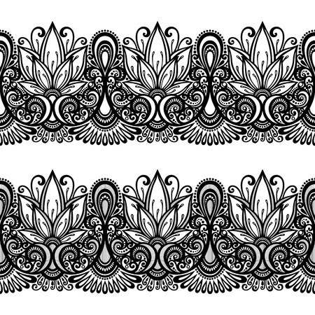 Decorative Floral Frame, Ornament  Vector   Vector