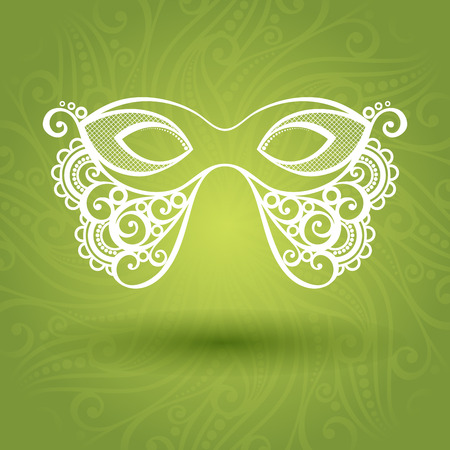 masquerade mask: Beautiful Masquerade Mask  Vector  on Ornate Background