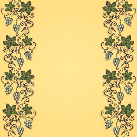 burgeon: Colored Floral Hand Drawn Texture with Hop Illustration