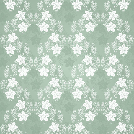 suds: Seamless Floral Pattern  Vector   Hand Drawn Texture with Hop