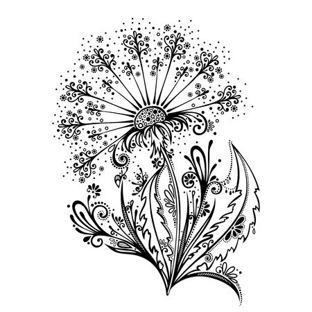 Beautiful Decorative Flower  Vector , Patterned design Vector