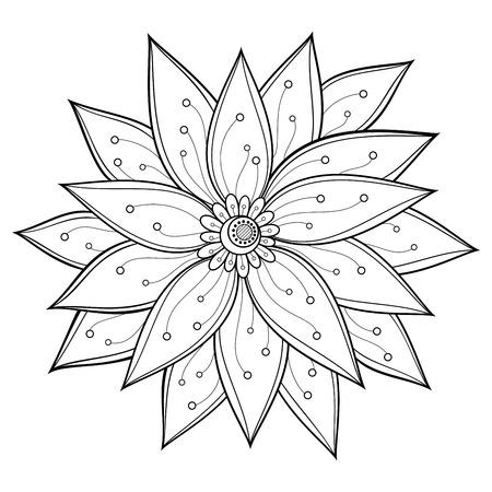 Beautiful Decorative Flower  Vector , Patterned design Vector
