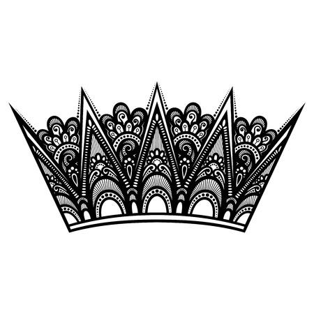 the aristocracy: Decorative Ornate Crown Illustration