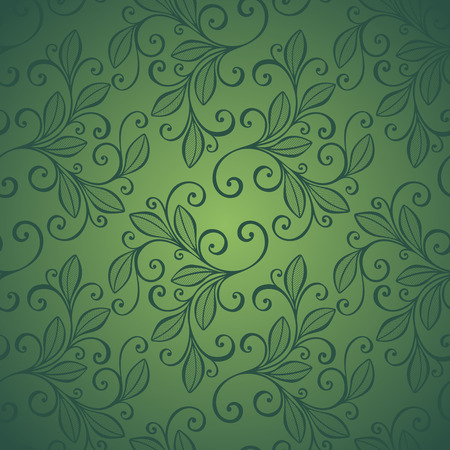 burgeon: Seamless Floral Pattern. Hand Drawn Texture with Leaves