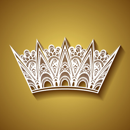 Vector Decorative Ornate Crown Vector