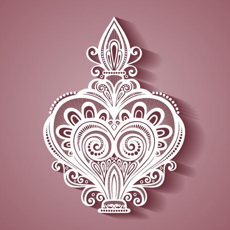 Vector decoratieve sierlijke Parfum