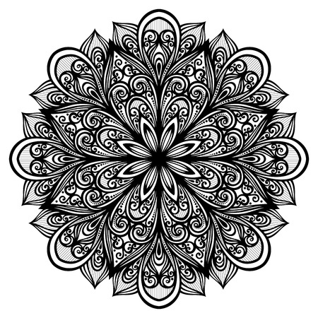 serviette: Beautiful Deco Mandala (Vector), Patterned design