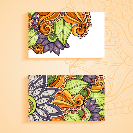 Vector Set of Floral Banners. Place for text Vector