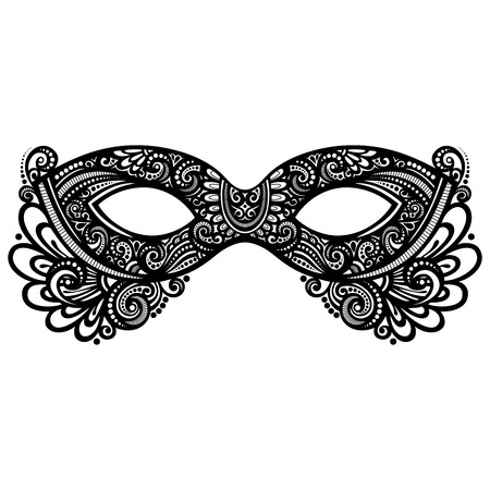 masquerade mask: Beautiful Masquerade Mask (Vector), Patterned design Illustration