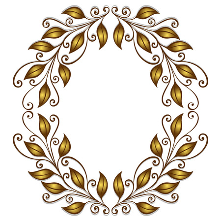 Vector Gold Laurel Wreath