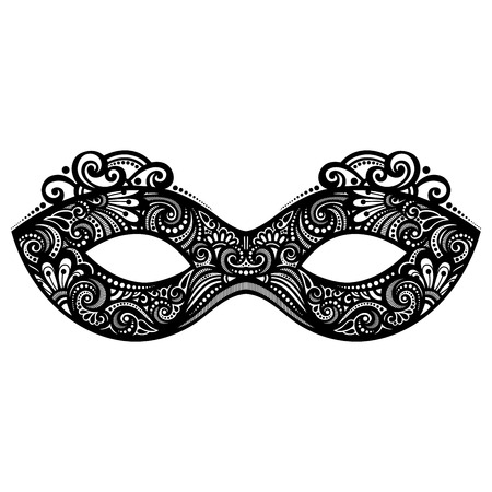 venice carnival: Beautiful Masquerade Mask (Vector), Patterned design Illustration