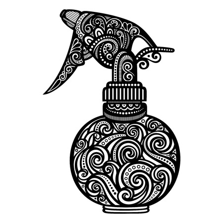 pulverizer: Vector Ornate Pulverizer. Patterned Design Illustration