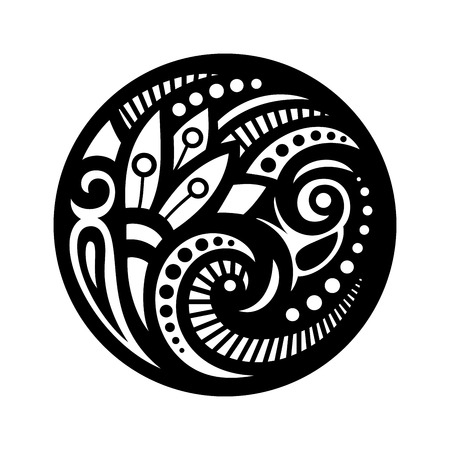 Beautiful Deco Mandala (Vector), Patterned Design, Amulet Vector