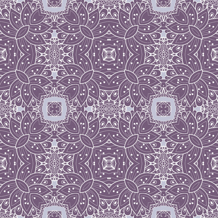 vitrage: Seamless Abstract Tribal Pattern (Vector). Hand Drawn Ethnic Texture